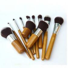 11pcs Bamboo Handle Makeup Brush Set Cosmetic Brush Kit Kabuki Brush Tool MS