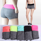 Fashion Women Girls Summer Elastic Pants Outwork Sports Shorts Gym Yoga Shorts