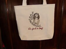 Free personalizing! NEW custom embroidered dachshund tote! too cute!