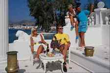 702039 Two Couples On Veranda Bodrum Turkey A4 Photo Print