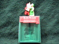New 1986 Mr and Mrs Claus Merry Mistletoe Time Hallmark Ornament Christmas 1st