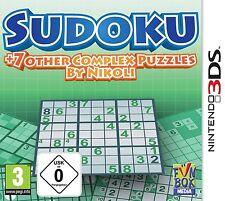Nintendo 3ds sudoku + 7 other Complex puzzles NOUVEAU & OVP expédition assurée!