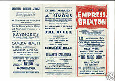 Harry Richman Hand Signed Empress Brixton Programme  August 2nd 1948