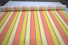 SWAVILLE MILL CREEK CORAL STRIPE INDOOR OUTDOOR UPHOLSTERY FABRIC DWR SOLD BTY