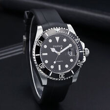 40mm Parnis sapphire glass Automatic Movement Rubber Strap Men's Watch 612