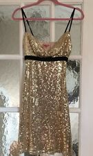 Lipsy Gold Sequin Party  Dress