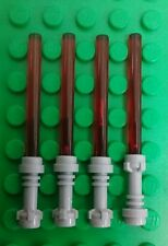 *NEW* Lego Bulk Red Light Sabres Grey Hilts Star Wars Jedi Sith Lord x 4 pieces