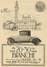 1919 Old Vintage Original Post War BIANCHI Automobile CAR Photo Art Print AD .