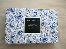 NEW Laura Ashley Queen Sheet Set Cottage Chic Floral LORELEI Blue & White
