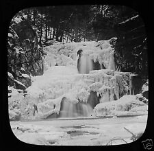 Glass Magic Lantern Slide INDIAN FALLS OPPOSITE WEST POINT C1890 USA PHOTO