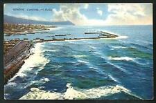 Genova : L'entrata del Porto -  cartolina viaggiatanel 1914 per la Germania