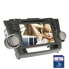 """Free GPS Card+ 8"""" 2Din HD Car Stereo DVD Player for Toyota Highlander 2008-2012"""
