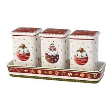 Villeroy & and Boch WINTER BAKERY DELIGHT boxed set 3 storage jars and tray NEW