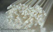 HDPE Plastic welding rods 4mm white, pack of 30 pcs