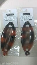 3 PCS Brown Banana Hair Comb Clip MSRP $ 4.99 Each