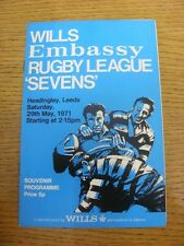 29/05/1971 Rugby League Programme: 7-A-Side Wills [At Headingley] - Barrow, Leig