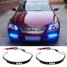 "2x Blue 30cm/12"" 5050 15 SMD side shine DRL LED Flexible strip light waterproof"