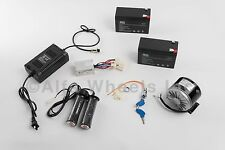250W 24V electric motor kit w Control Twist Throttle Charger Keylock & Batteries