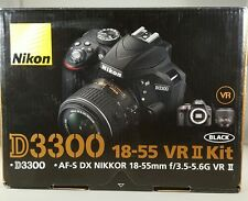 NEW Nikon D3300 24.2MP Digital SLR Camera &18-55mm f/3.5-5.6G VR II Lens Black