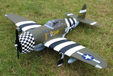 "1/6 Scale P-47D THUNDERBOLT RAZOR BACK scratch build R/c Plane Plans 76""WS"