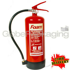 6 LITRE FOAM FIRE EXTINGUISHER 6LTR CE MARKED + BRACKET