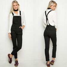 New! Brandy melville Black open back adjustable Uma overalls NWT M