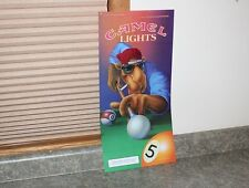 "Joe Camel Playing Pool Lighted Sign Plastic Insert - Size 21"" x 10-1/4"""