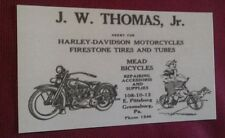 1927 Greensburg PA. Harley Davidson Co. Motorcycle Sales ++ Business Card Repo