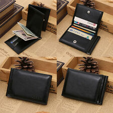 Men Leather Bifold ID Credit Card Holder Purse Billfold Wallet Money Clip New C0