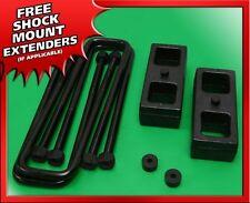 """1986-1995 Toyota IFS Pickup 2WD 4WD 2"""" Blocks + U-bolts Rear Lift Kit"""
