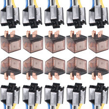 10 X Car Truck Auto 12V 80A 80 AMP SPST Relay Relays 4 Pin 4P & Socket 4 Wire