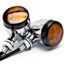 Chrome Skull Turn Signals For Kawasaki VN Vulcan Classic MeanStreak Nomad 1600
