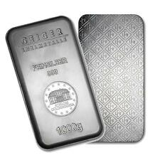 One piece 1 kilo 0.999 Fine Silver Bar Geiger Security Series Lot 8056