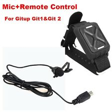 External Mic Micrphone+Remote Control for Gitup1 Gitup Git2(Pro Packing) Camera