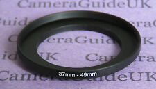 37mm to 49mm Male-Female Stepping Step Up Filter Ring Adapter 37mm-49mm UK