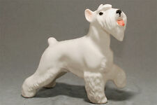 Schnauzer (white) ceramic dog figurine. Great gift for dog lovers.