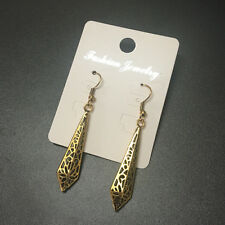 Bohemian Boho Style Ethnic Gold/Silver Hollow Carved Sharp Dangle Women Earrings