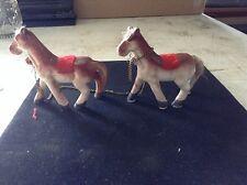Set of mini ceramic Horses w/chain