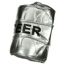 Beer Keg Hat Metallic Silver Crazy Fancy Dress Up Halloween Costume Accessory