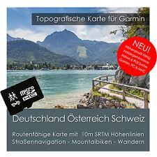 Deutschland Österreich Schweiz DACH Topo Karte 8GB microSD Garmin Navi, PC & MAC