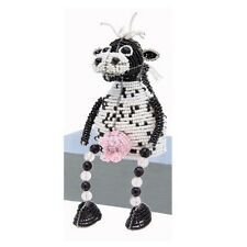BEADWORX  SHELF SITTING COW ~ HAND CRAFTED GIFT ~ BEAD WORK ~ UNIQUE GIFT