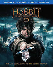THE HOBBIT: THE BATTLE OF THE FIVE ARMIES 3D/2D DVD BLU-RAY COMBO W LENTI SLIP