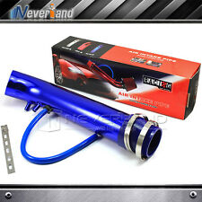 Universal Turbo Car Air Filter Intake Induction Pipe Tube Kit Stainless Blue