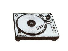 Platine disques ecusson brodé turntable DJ musique ecusson patch