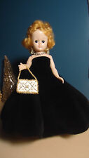 VINTAGE VOGUE JILL DOLL IN #7517 TAGGED EVENING GOWN OUTFIT -  1957