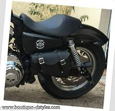 Borsa laterale in cuoio - Simple { Harley Sportster 883 /1200, Iron , Quaranta }