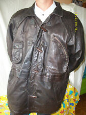"VESTE  MANTEAU CUIR "" GIORGIO PARIS "" T-4/5  LEATHER JACKET VINTAGE"