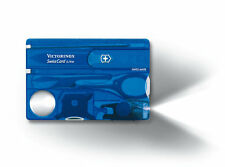 VICTORINOX Swisscard Lite Blau NEU/OVP 13 Funktionen Swiss Card Multitool + LED