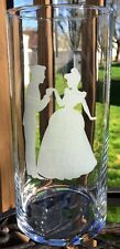 Engraved Wedding centerpiece Cinderella and Prince Charming Etched Glass Vase