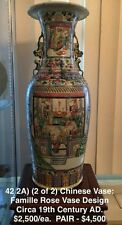 Chinese Famille Rose Vase Circa 19th Century AD.